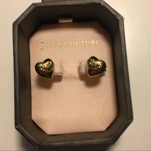 Juicy Couture Puffed Heart Gold Studs